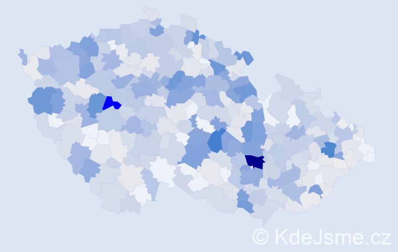 Příjmení: 'Kunc', počet výskytů 2191 v celé ČR