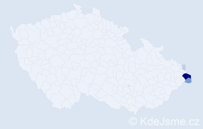 Příjmení: 'Farugová', počet výskytů 10 v celé ČR