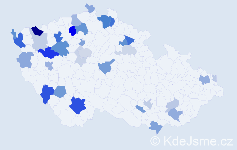 Příjmení: 'Barthová', počet výskytů 83 v celé ČR