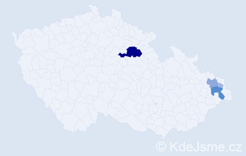 Příjmení: 'Gembal', počet výskytů 15 v celé ČR