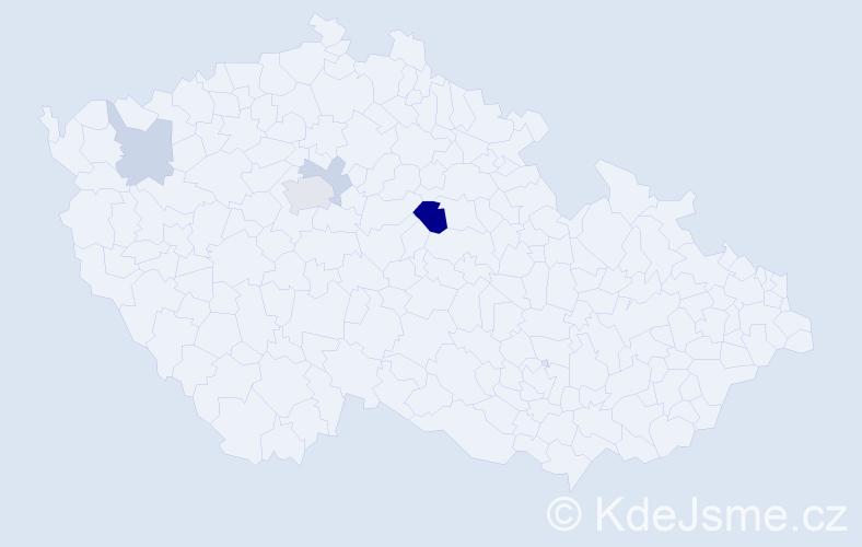 Příjmení: 'Icík', počet výskytů 9 v celé ČR