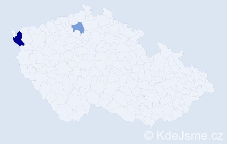 Příjmení: 'Baniunynský', počet výskytů 8 v celé ČR
