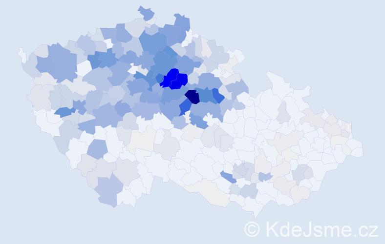 Příjmení: 'Krejčík', počet výskytů 1366 v celé ČR