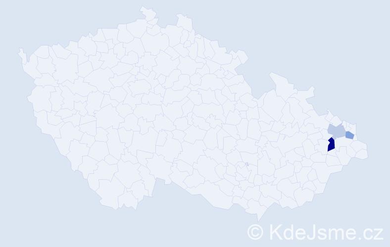 Příjmení: 'Gogolinová', počet výskytů 4 v celé ČR
