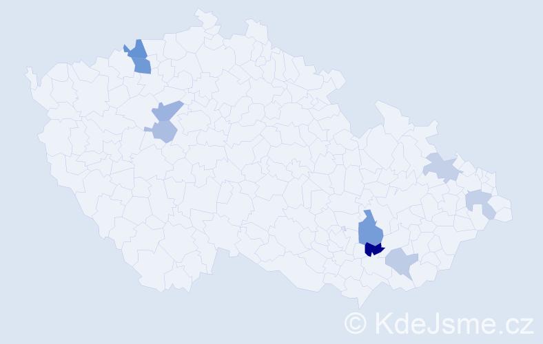 Příjmení: 'Flemmr', počet výskytů 15 v celé ČR