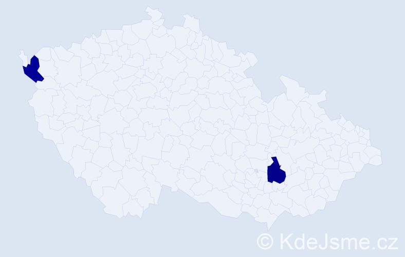 Příjmení: 'Harasník', počet výskytů 2 v celé ČR