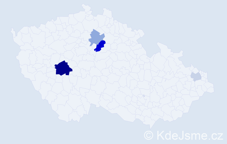 Příjmení: 'Havačová', počet výskytů 8 v celé ČR