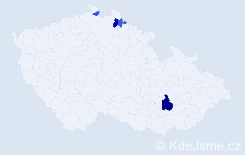 Příjmení: 'Hettfleisch', počet výskytů 10 v celé ČR