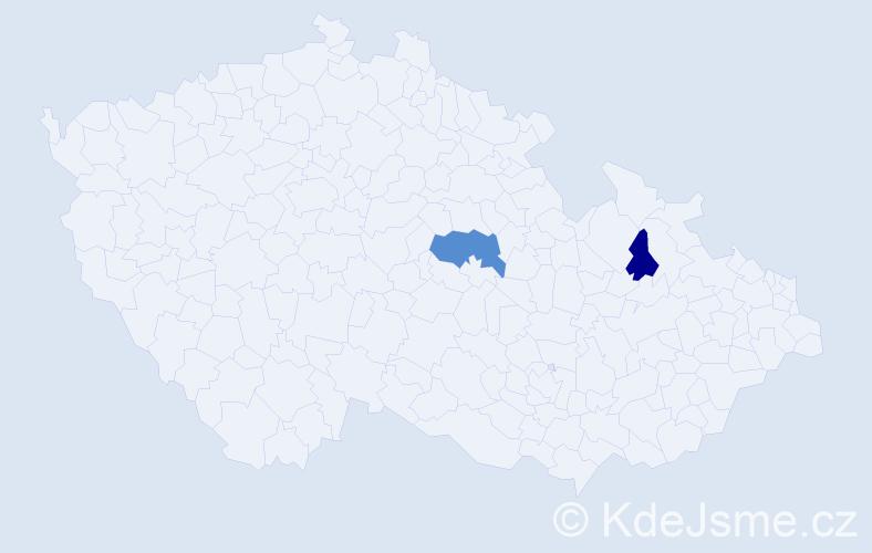 Příjmení: 'Echingerová', počet výskytů 3 v celé ČR
