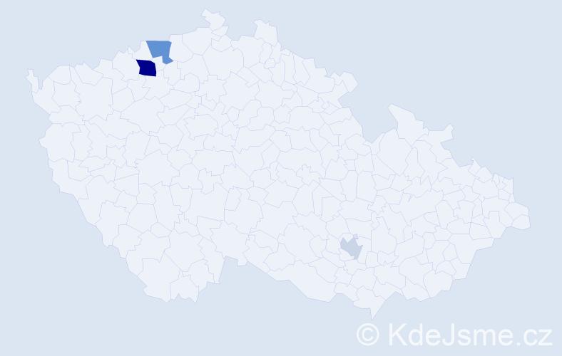 Příjmení: 'Hammerschmidt', počet výskytů 7 v celé ČR