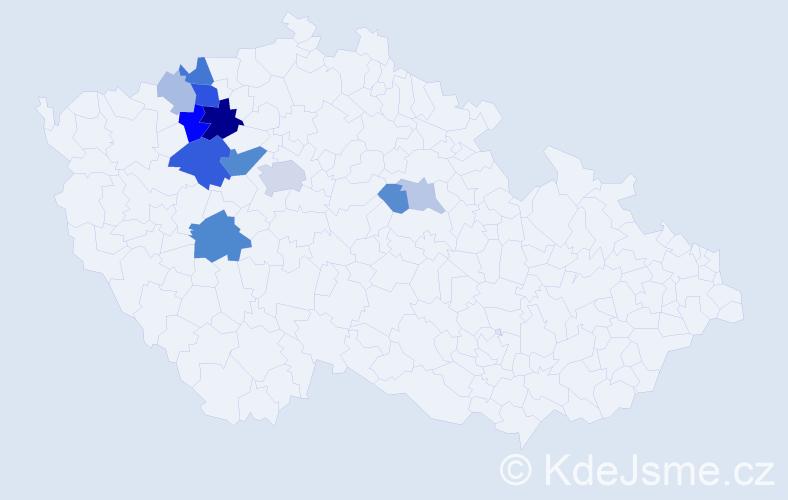 Příjmení: 'Eichelmanová', počet výskytů 29 v celé ČR