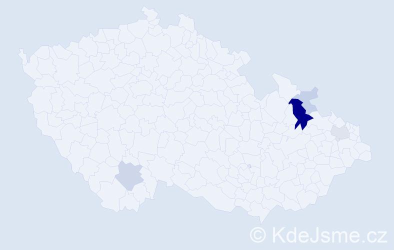 Příjmení: 'Breškovec', počet výskytů 15 v celé ČR