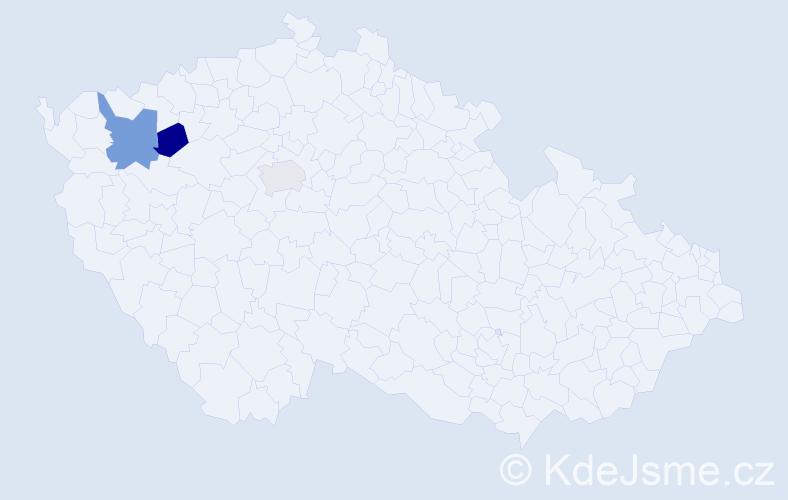 Příjmení: 'Chmara', počet výskytů 7 v celé ČR