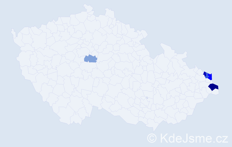 Příjmení: 'Śliwková', počet výskytů 13 v celé ČR