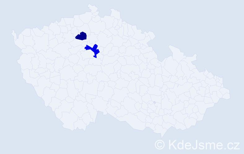 Příjmení: 'Csatlós', počet výskytů 3 v celé ČR