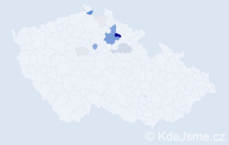 Příjmení: 'Grafková', počet výskytů 33 v celé ČR