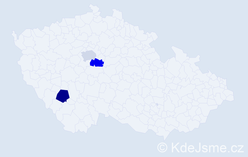 Příjmení: 'Audolenský', počet výskytů 6 v celé ČR