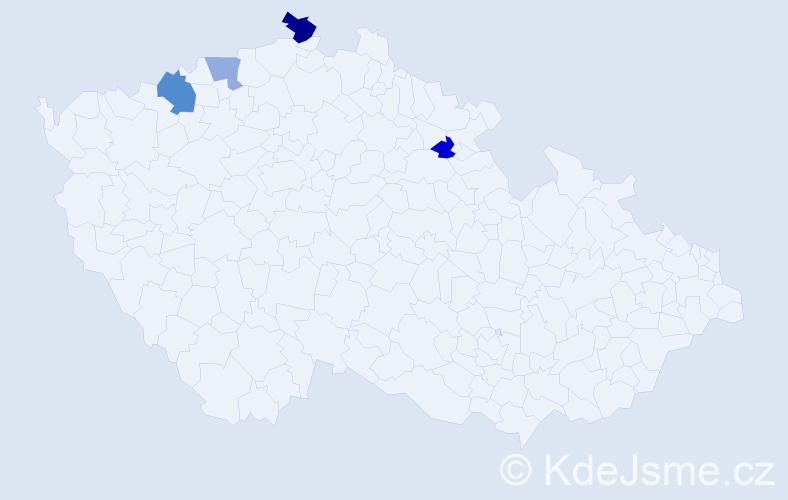 Příjmení: 'Iljuk', počet výskytů 6 v celé ČR