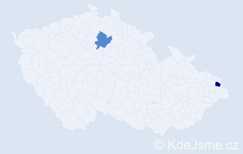 Příjmení: 'Davydenko', počet výskytů 3 v celé ČR