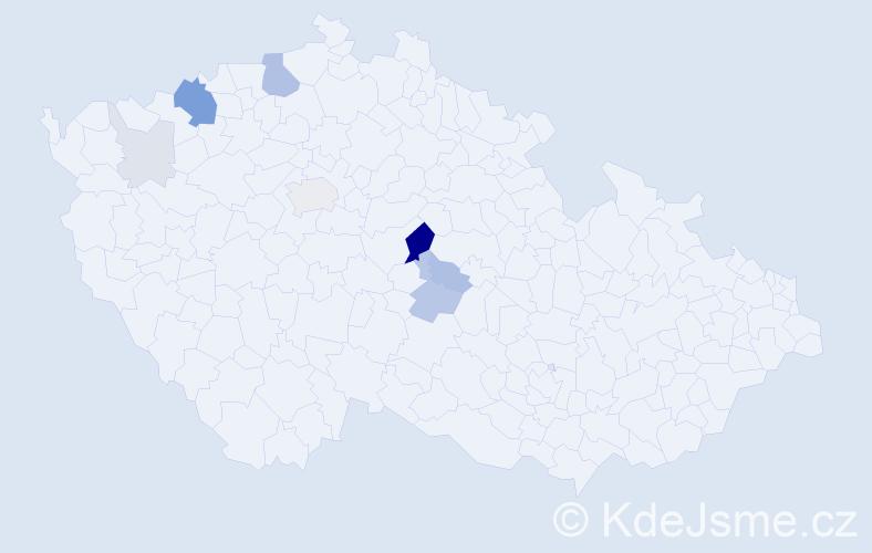 Příjmení: 'Ašenbrener', počet výskytů 26 v celé ČR