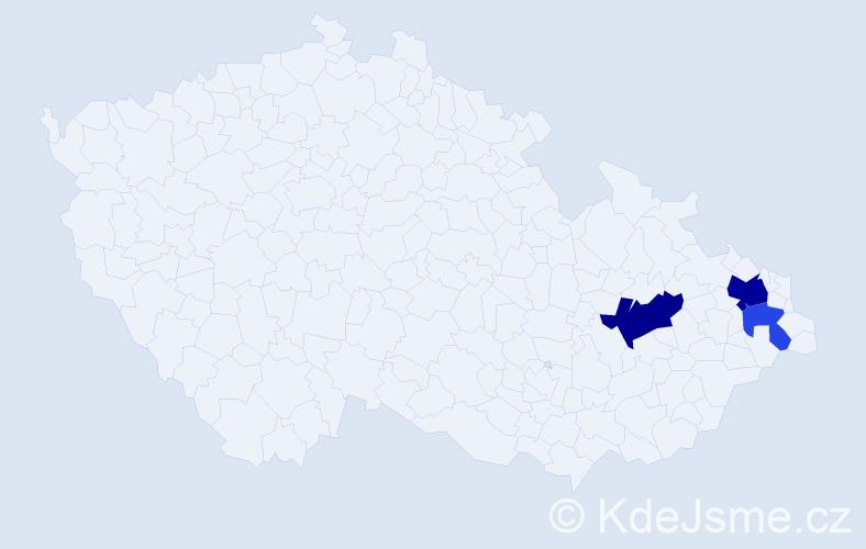 Příjmení: 'Fitříková', počet výskytů 13 v celé ČR
