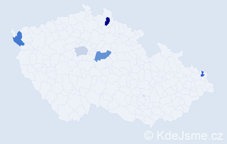 Příjmení: 'Baldwin', počet výskytů 7 v celé ČR