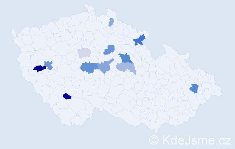 Příjmení: 'Gerhartová', počet výskytů 26 v celé ČR