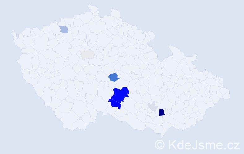Příjmení: 'Bošnjak', počet výskytů 13 v celé ČR