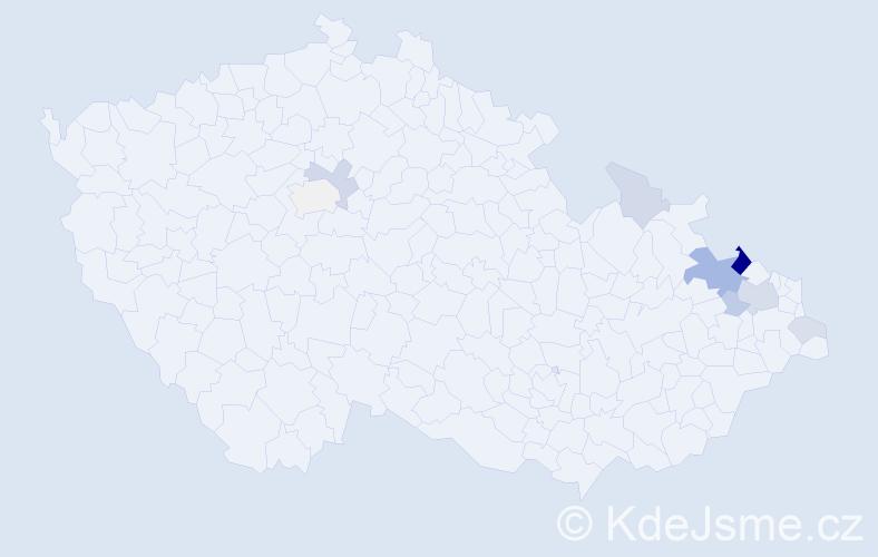 Příjmení: 'Janta', počet výskytů 23 v celé ČR