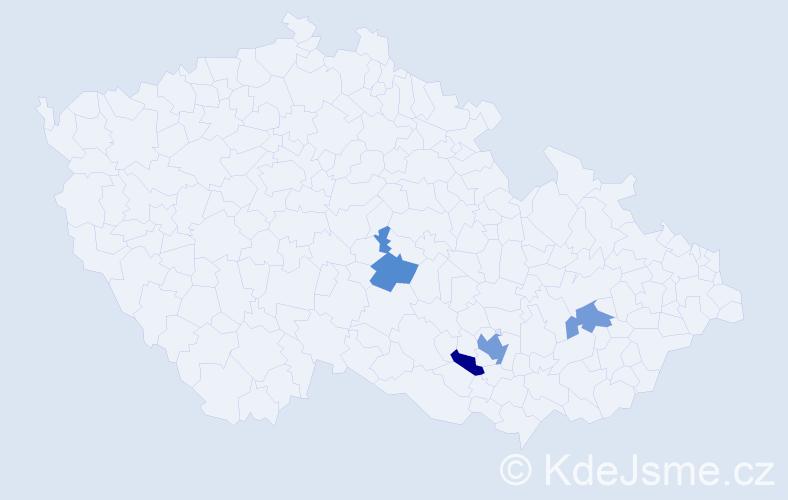 Příjmení: 'Ďurta', počet výskytů 6 v celé ČR
