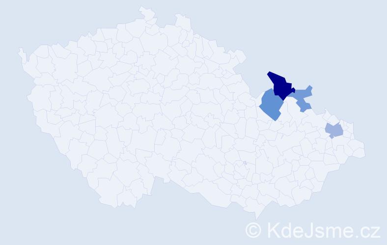 Příjmení: 'Akritidu', počet výskytů 17 v celé ČR