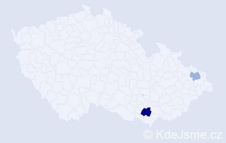 Příjmení: 'Lankes', počet výskytů 2 v celé ČR
