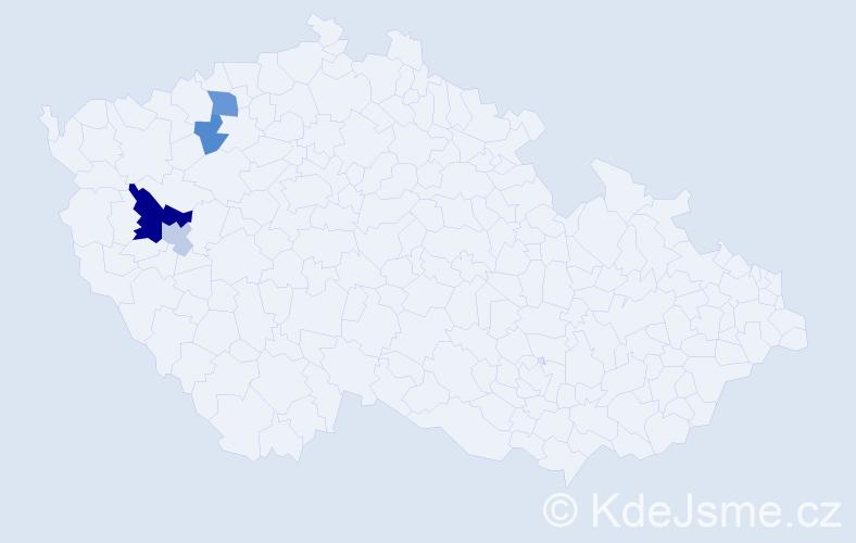 Příjmení: 'Čiliak', počet výskytů 8 v celé ČR