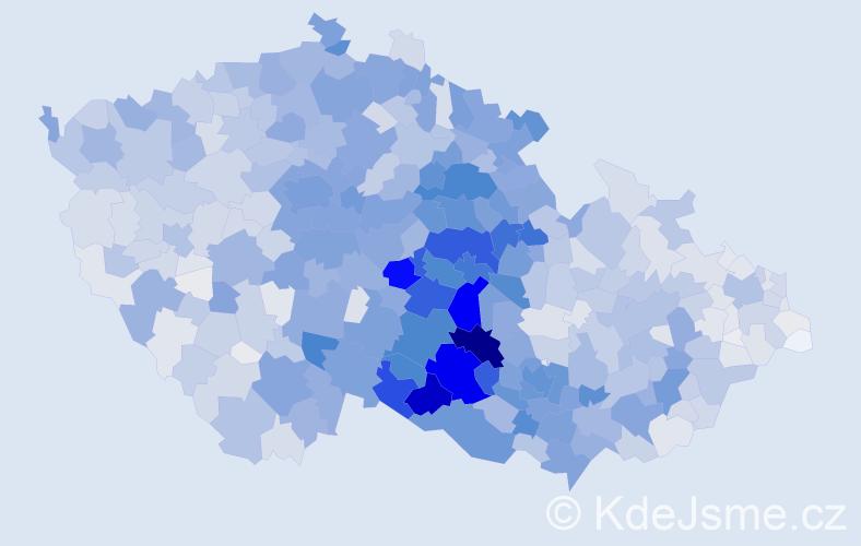 Příjmení: 'Doležalová', počet výskytů 9160 v celé ČR