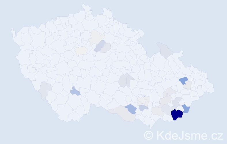 Příjmení: 'Hauerland', počet výskytů 114 v celé ČR