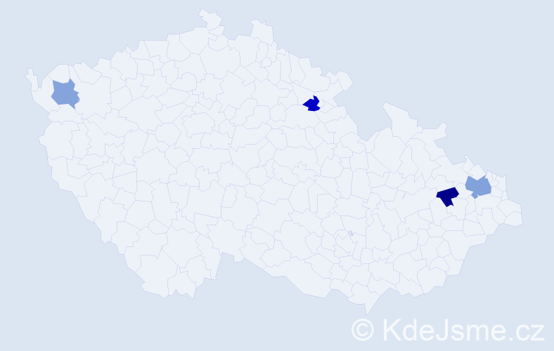Příjmení: 'Goljan', počet výskytů 6 v celé ČR