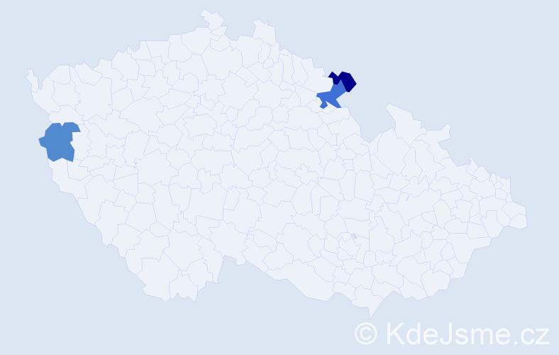 Příjmení: 'Lembej', počet výskytů 8 v celé ČR