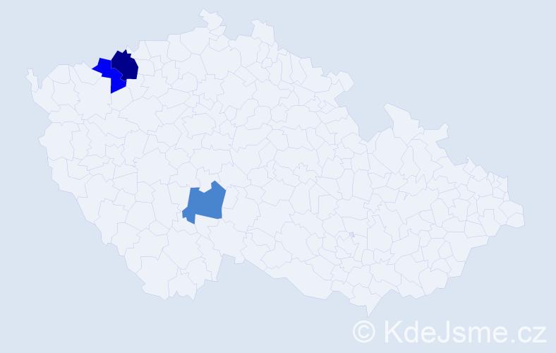 Příjmení: 'Gavdun', počet výskytů 4 v celé ČR