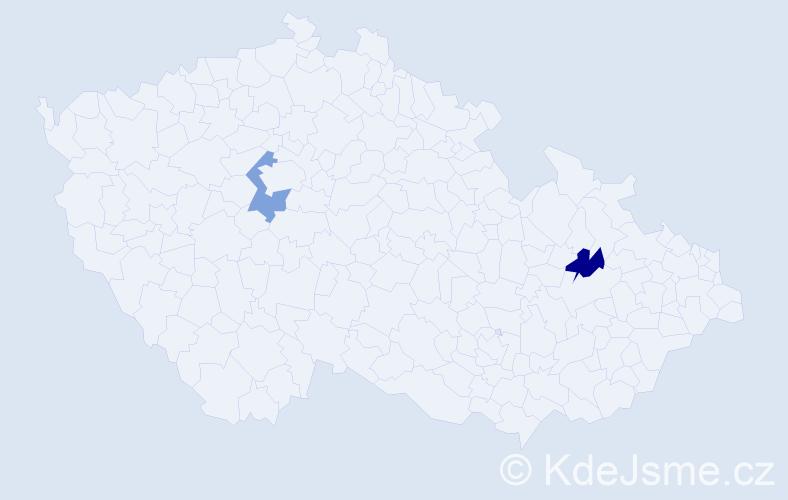 Příjmení: 'Glavatovičová', počet výskytů 2 v celé ČR