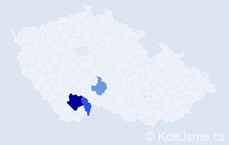 Příjmení: 'Jarath', počet výskytů 10 v celé ČR