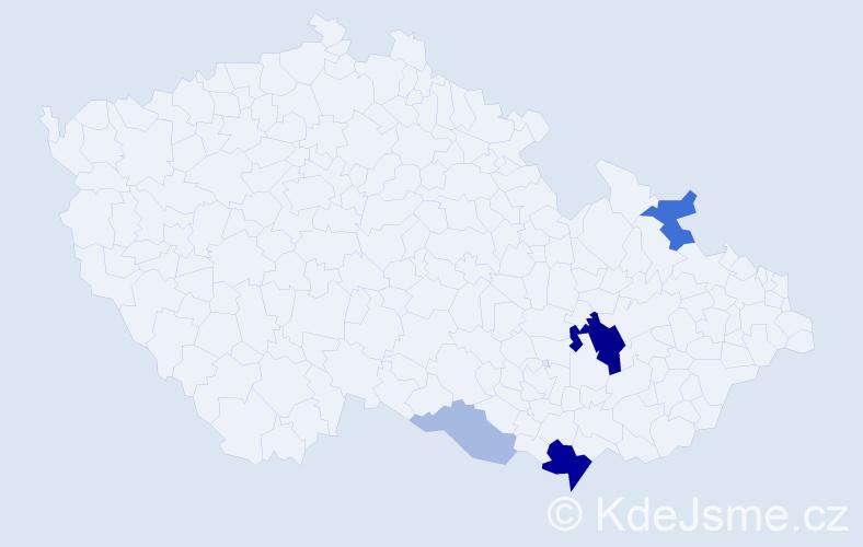Příjmení: 'Entl', počet výskytů 15 v celé ČR