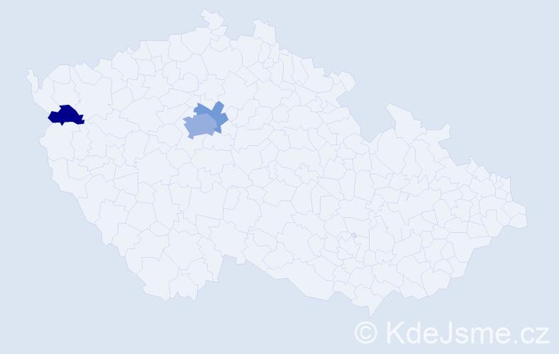 Příjmení: 'Elbrsová', počet výskytů 7 v celé ČR