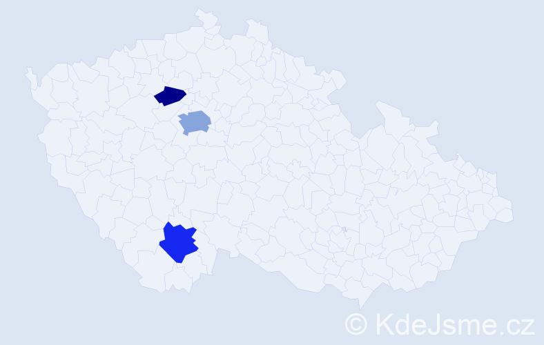 Příjmení: 'Hyrešová', počet výskytů 7 v celé ČR