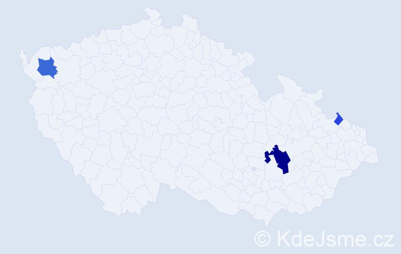 Příjmení: 'Ernek', počet výskytů 10 v celé ČR