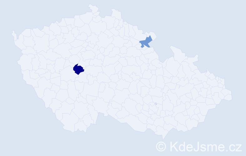 Příjmení: 'Iljašenko', počet výskytů 2 v celé ČR