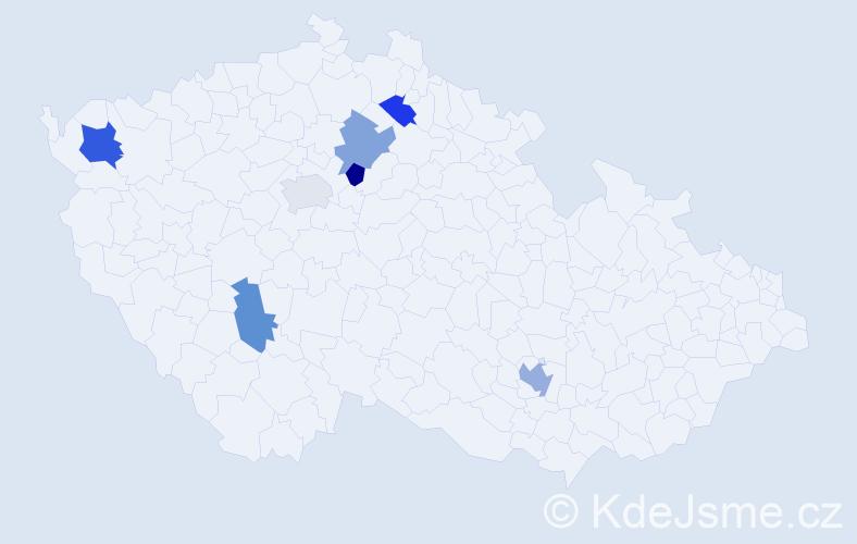 Příjmení: 'Čerňová', počet výskytů 9 v celé ČR