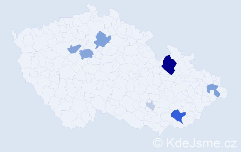 Příjmení: 'Flynn', počet výskytů 16 v celé ČR