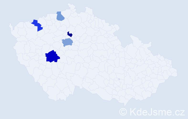 Příjmení: 'Heveroch', počet výskytů 11 v celé ČR
