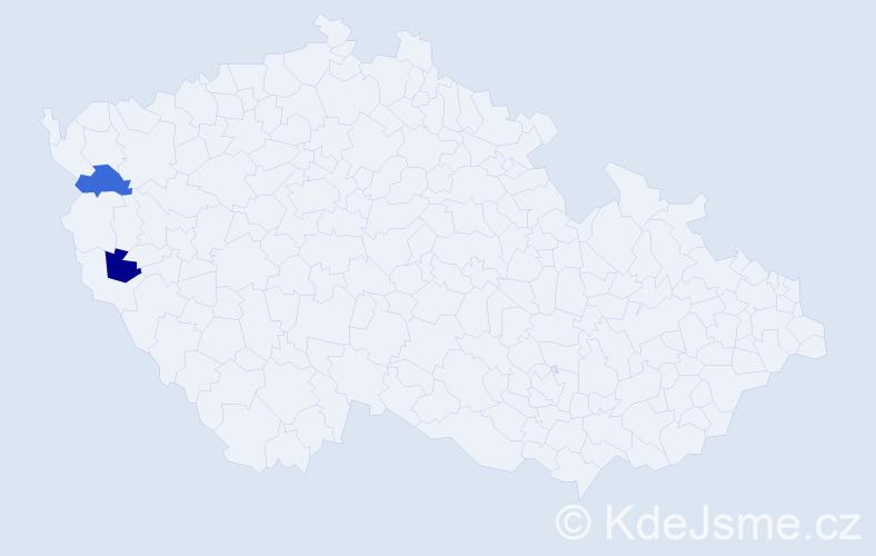 Příjmení: 'Gilch', počet výskytů 2 v celé ČR