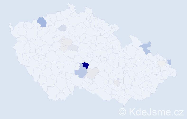 Příjmení: 'Jančička', počet výskytů 44 v celé ČR